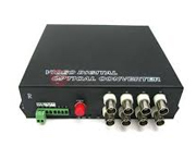 Fibre Optic Converters Eight Channel SM-MM FC to FC with Data